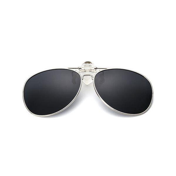 Image of Clip-on Aviator Aurinkolasit - Musta väri