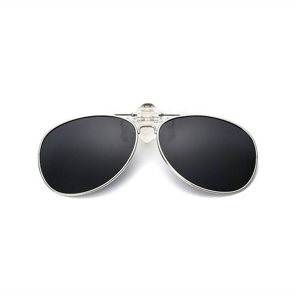 24hshop Clip-on Aviator Aurinkolasit - Musta väri