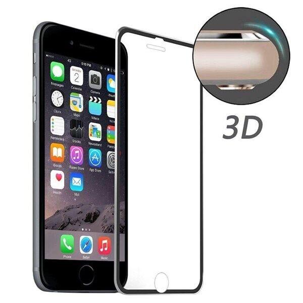 Apple Karkaistu Lasisuoja iPhone 8 Plus / 7 Plus - Kaareva Musta