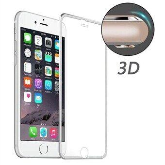Apple Karkaistu Lasisuoja iPhone 6 Plus / 6S Plus - Kaareva Hopea