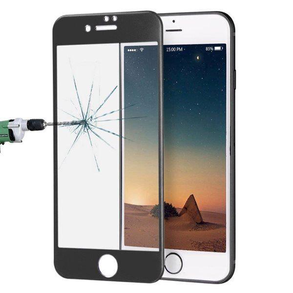 Apple Kaareva karkaistu koko näytön suojalasi iPhone 8 / 7 - Musta