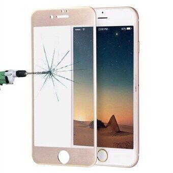 Apple Kaareva karkaistu koko näytön suojalasi iPhone 8 / 7 - Kulta
