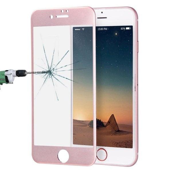 Apple Kaareva karkaistu koko näytön suojalasi iPhone 8 / 7 - Rose Gold