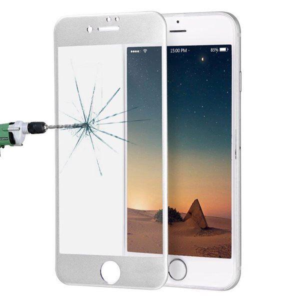 Apple Kaareva karkaistu koko näytön suojalasi iPhone 8 / 7 - Hopea