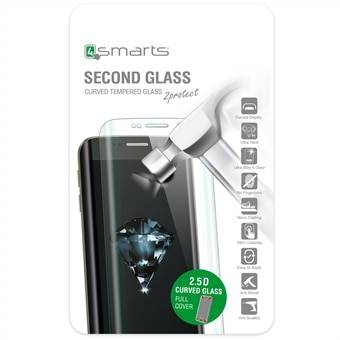 Apple 4smarts Second Glass Curved 2.5D iPhone 7 -  Musta