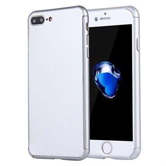 Apple Matkapuhelimen kotelo 360 suoja iPhone 8 Plus / 7 Plus - Sis. lasisuojan - Hopea