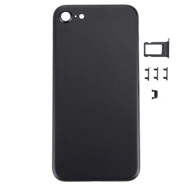 Apple Takakuori musta iPhone 7 + näppäimet - Täydellinen korvaava kuori