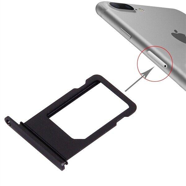 Apple Kelkka Sim-kortille iPhone 7 Plus - Musta