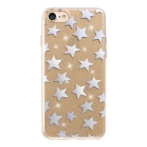 Apple Glitter kuori tähdet iPhone 7 / iPhone 8 Kulta