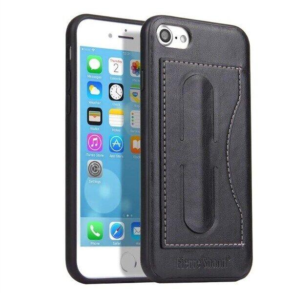 Apple Fierre Shann Takakuori telineellä iPhone 8 & 7 Musta