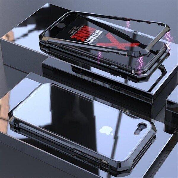 Apple Magneettinen Temperoitu Näytönsuoja Kehys iPhone 8 & 7 Musta