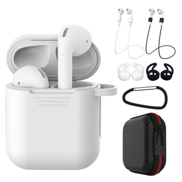 Apple Silikoni suojakotelo Apple AirPods 1/2 -  Valkoinen/musta