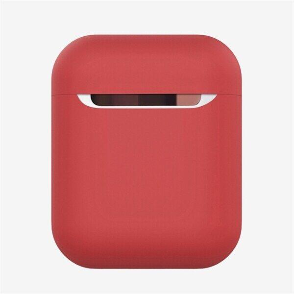 Apple Shockproof suojakotelo silikonia Apple AirPods 1 / 2 - Punainen