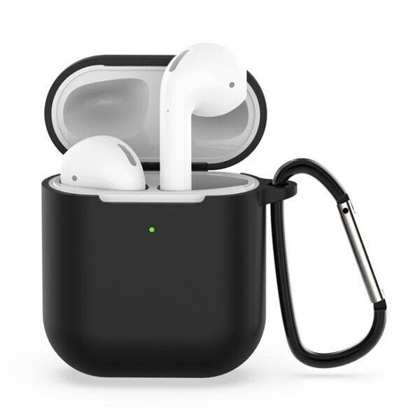 Apple Suojakotelo silikonia Apple AirPods 1 / 2 - Musta