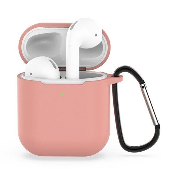 Apple Suojakotelo Shockproof silikonia Apple AirPods 1 / 2 - Pinkki