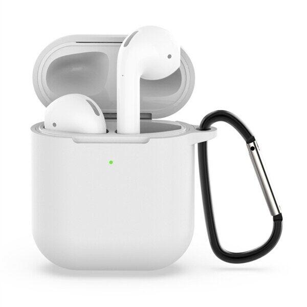 Apple Shockproof suojakotelo silikonia Apple AirPods 1 / 2 - Valkoinen