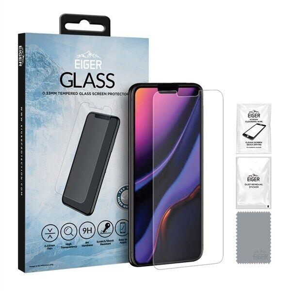 Eiger GLASS Temperoitu Näytönsuoja Apple iPhone 11 Pro / XS / X