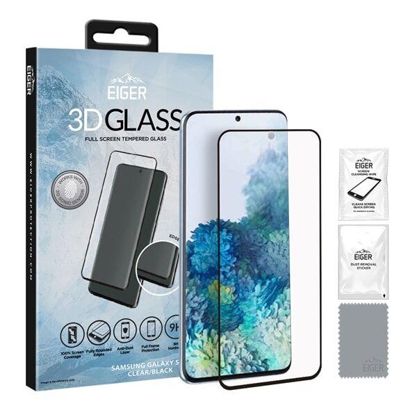 24hshop Eiger 3D Temperoitu Näytönsuoja Samsung Galaxy S20 Kirkas/Musta