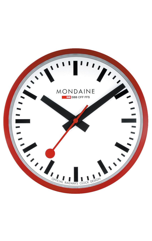 MONDAINE RED CLOCK VÄGGKLOCKA Ø 25cm