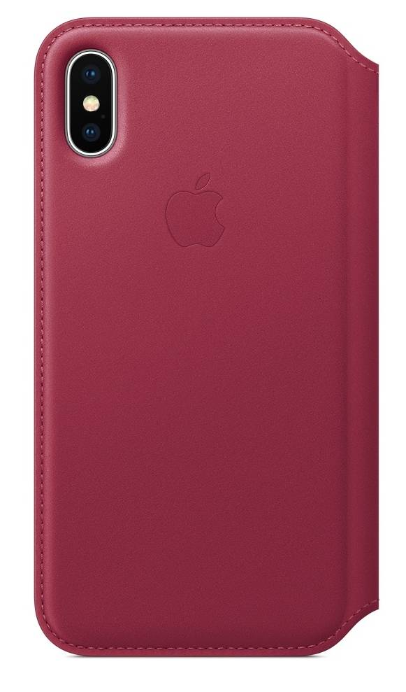"Apple Folio Book Case Iphone X"" Berry"