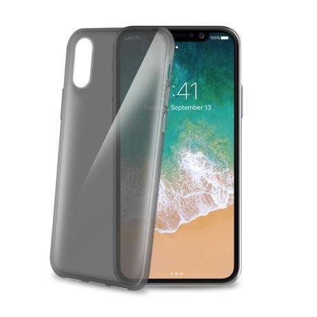 "Celly Gelskin Back Case Iphone X"" Black"