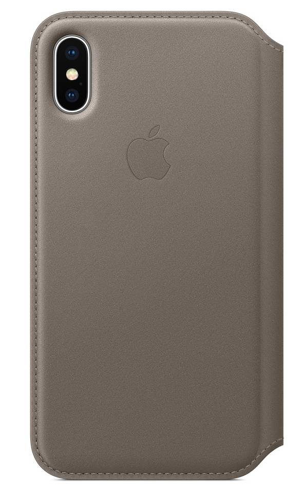 "Apple Folio Back Case Iphone X"" Taupe"