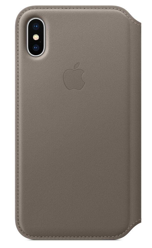 "Apple Folio Back Case Iphone X"" Taupe"