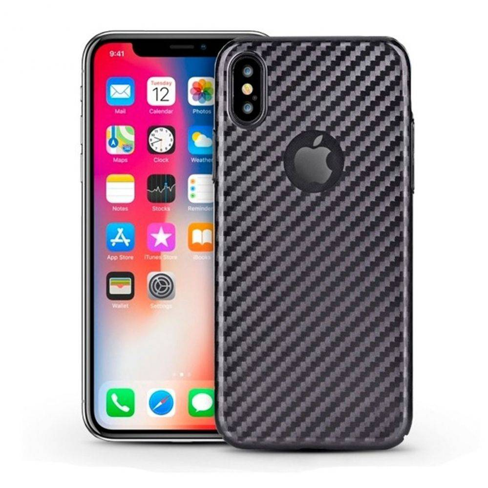 "Devia Linger Back Case Iphone X/ Xs"" Musta"