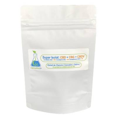 CannaMed.fr Super Isolat CBD + CBG + CBDV (1000 mg)