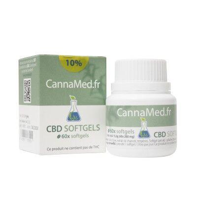 CannaMed.fr Boite de 60 capsules de 16 mg de CBD (10%)