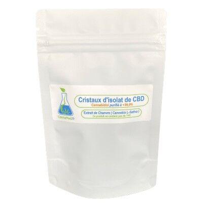 CannaMed.fr Cristaux de CBD (Cannabidiol) 2000 mg (+99,9%)