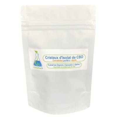 CannaMed.fr Cristaux de CBD (Cannabidiol) 1000 mg (+99,9%)