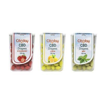 Cibiday Dragées Tic-Tak au CBD (Fraise, Citron, Menthe)