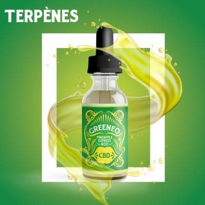 Greeneo E-liquide au CBD 400 mg et aux terpènes de cannabis Pineapple Express (Greeneo)