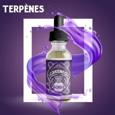 Greeneo E-liquide au CBD 800 mg et aux terpènes de cannabis Grand Daddy Purple (Greeneo)
