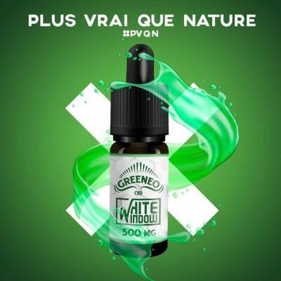Greeneo E-liquide au CBD WHITE WINDOW - Full Spectrum (Greeneo)