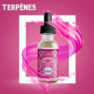 Greeneo E-liquide au CBD 400 mg et aux terpènes de cannabis Candy Jack (Greeneo)