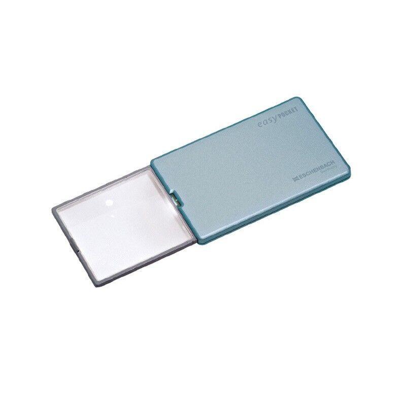 Eschenbach Loupe coulissante avec éclairage Easy Pocket Bleue grossissement 4x - Eschenbach