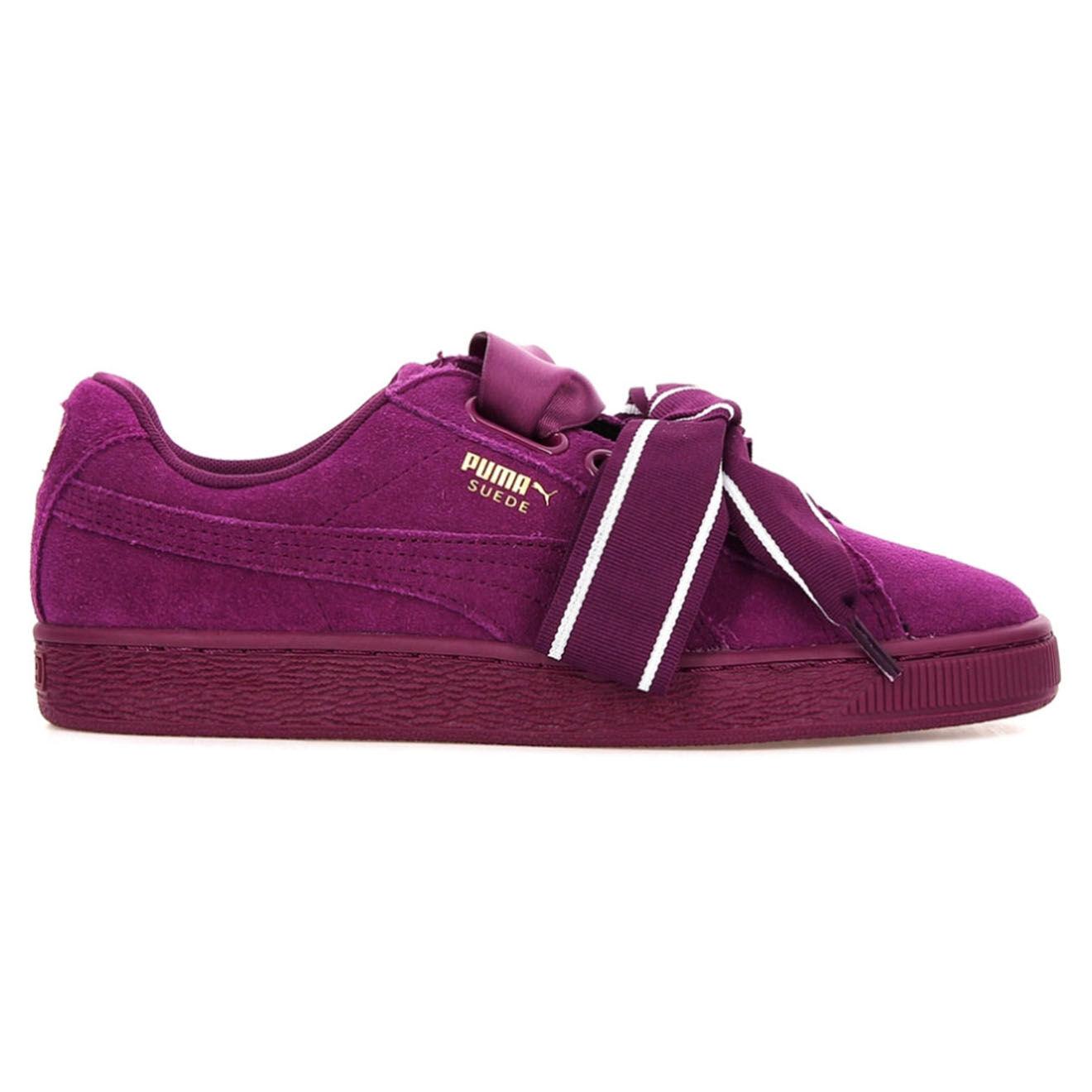 Puma Baskets en Velours de Cuir Heart Satin II Wn's violettes