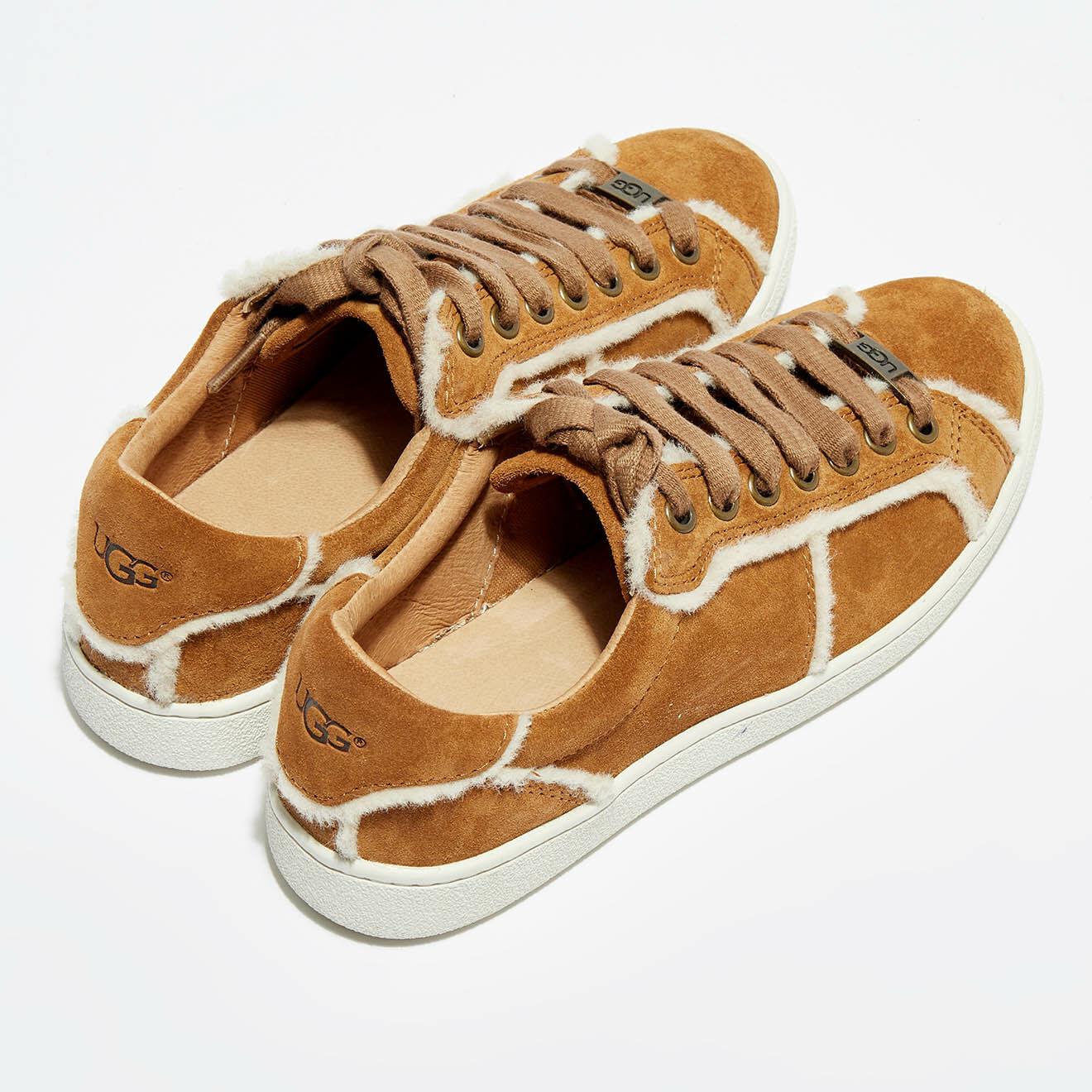 Ugg Sneakers en Velours de Cuir Milo Spill Sea camel