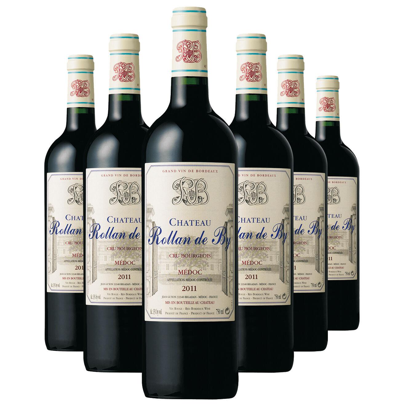 Bordeaux 6 Médoc Cru Bourgeois 2011 Ch. Rollan de By 75cl