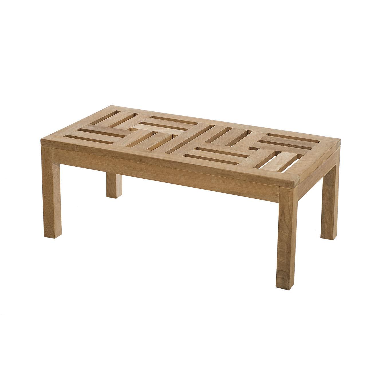 Dpi Table basse Fun teck massif - 100x50x40 cm