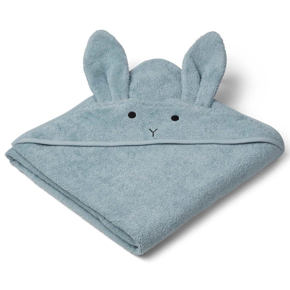 Liewood Cape de bain augusta rabbit sea bleu