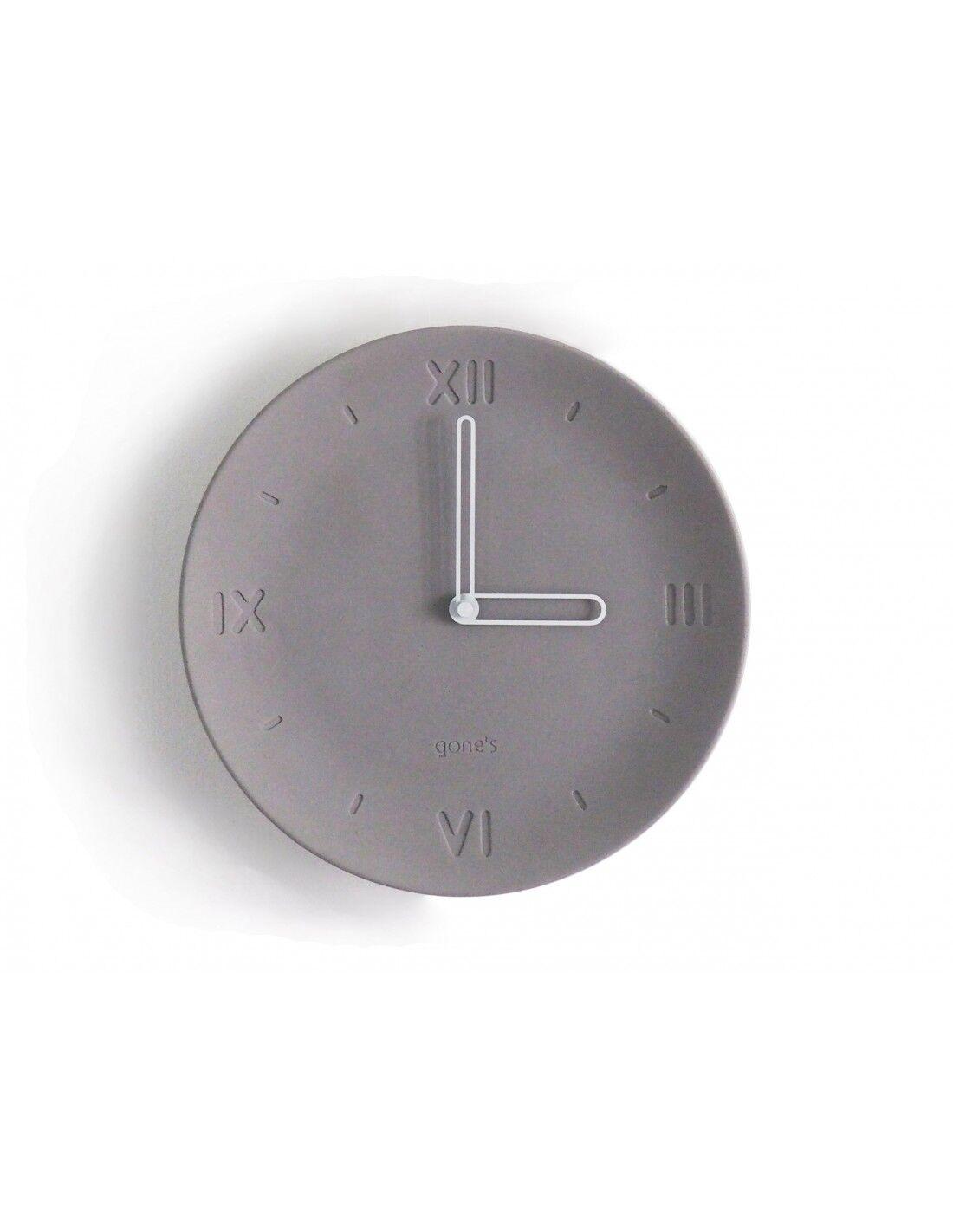 Gone's Horloge en béton aiguilles blanches