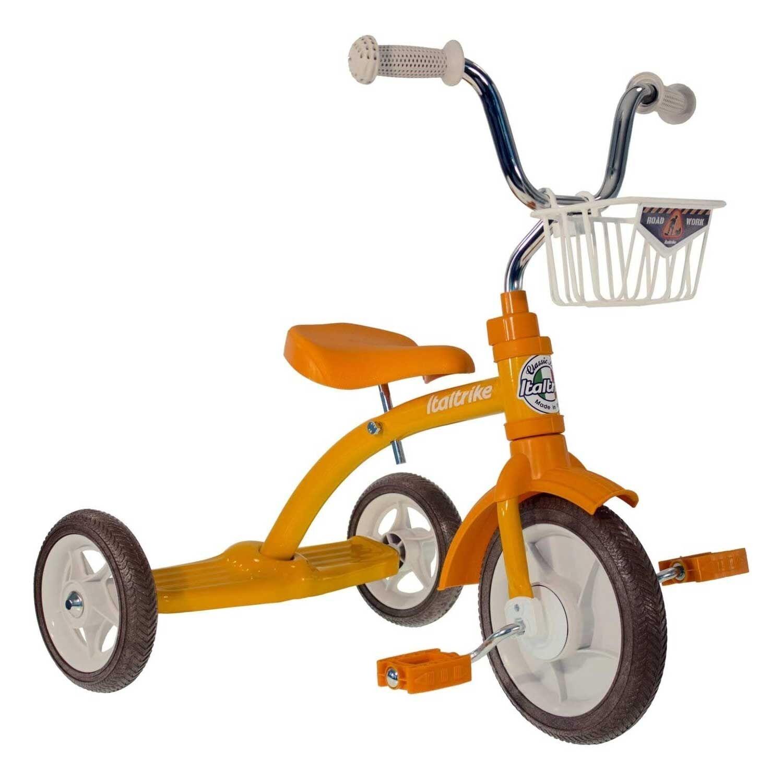 Italtrike Tricycle retro orange en métal pour les enfants de 2 à 5 ans