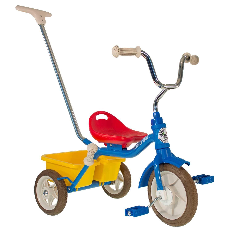 Italtrike Tricycle en métal multicolore canne et benne
