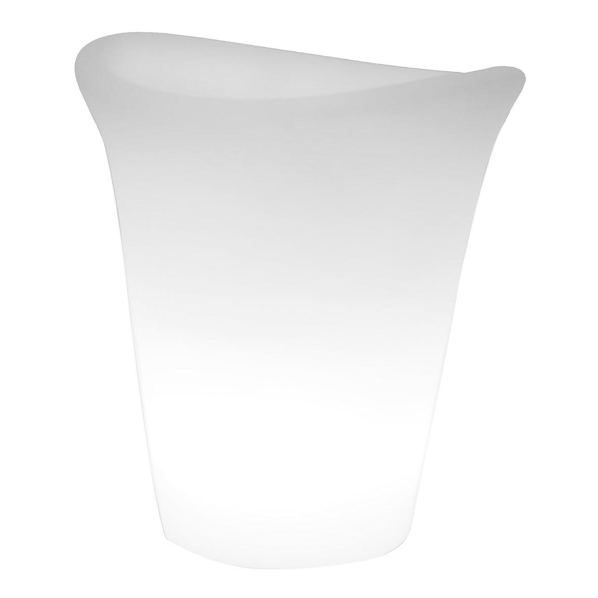 LUMISKY Seau à champagne lumineux plastique blanc H35cm