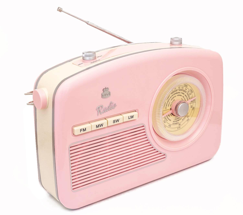 GPO Retro Design Radio vintage cadran roratif rose