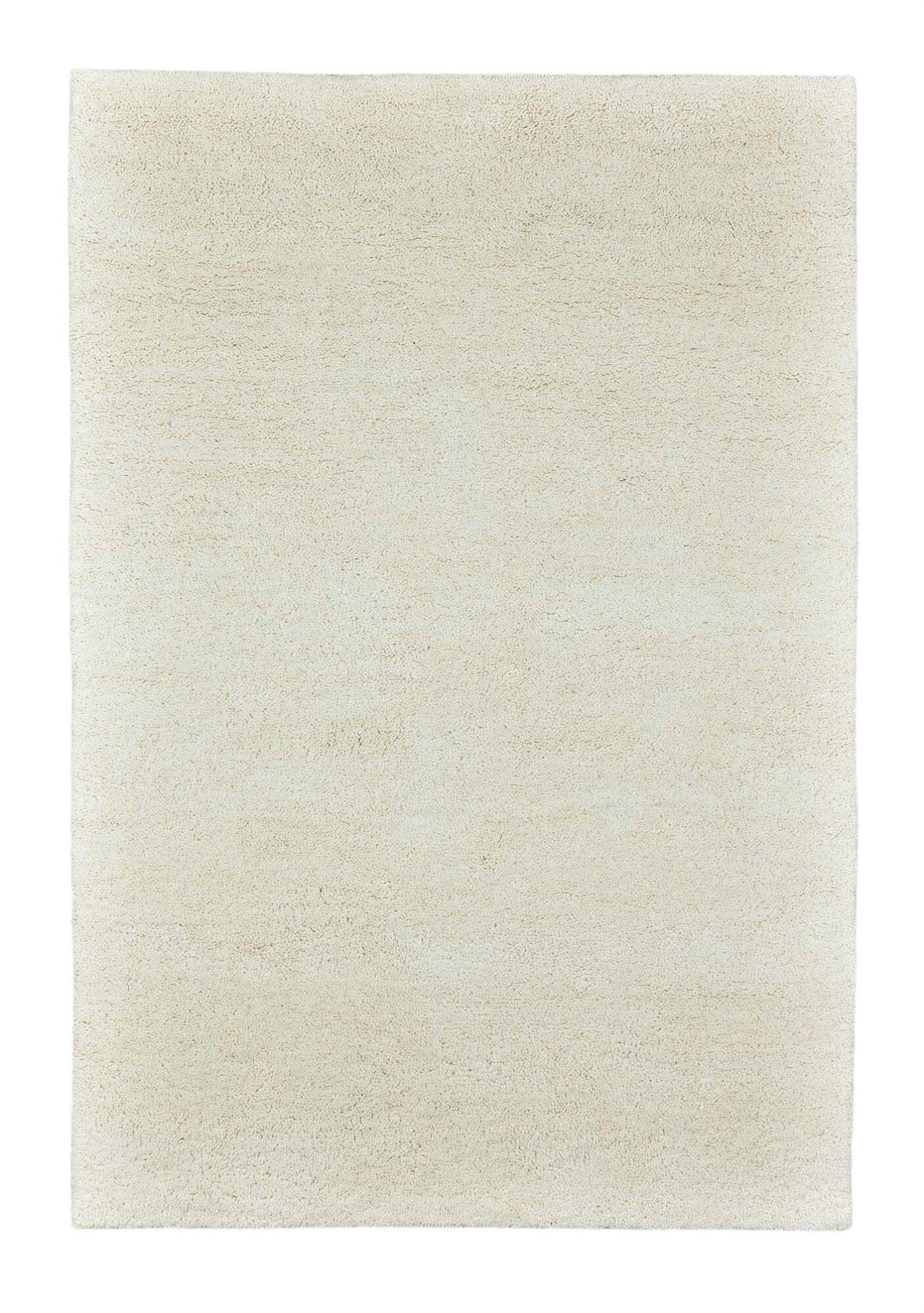 THEKO Tapis Berbre du maroc en laine naturelle Blanc 90x160