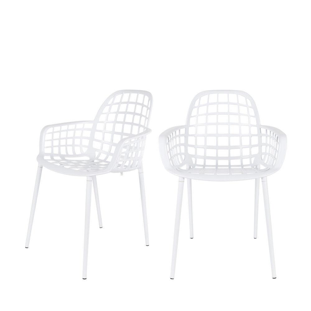 Zuiver 2 chaises indoor et outdoor blanc